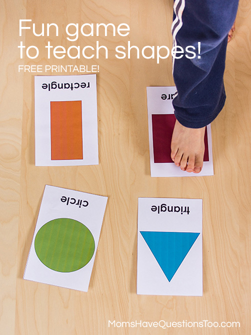 Find the shape teaching shapes activity moms have for Large motor skills activities for preschoolers