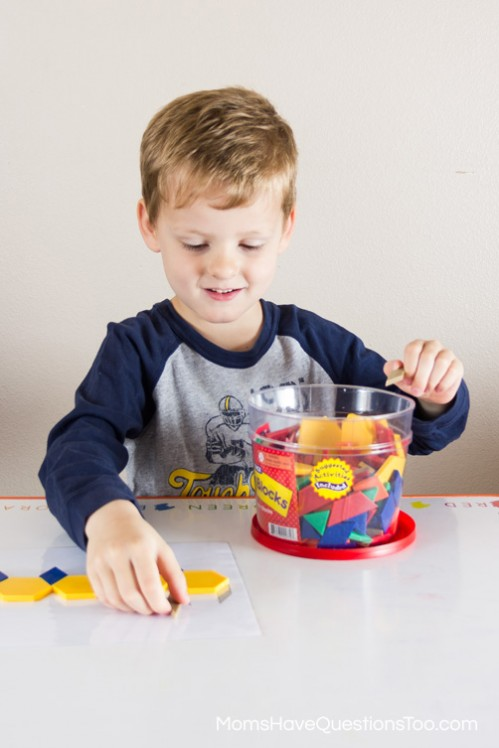 Caterpillar - Pattern Blocks Templates - Moms Have Questions Too