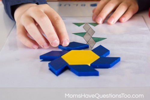 Flower - Spring Pattern Blocks Templates - Moms Have Questions Too