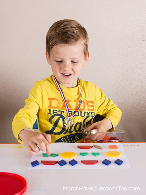 Make a Pattern in Preschool with Pattern Blocks Templates - Moms Have Questions Too