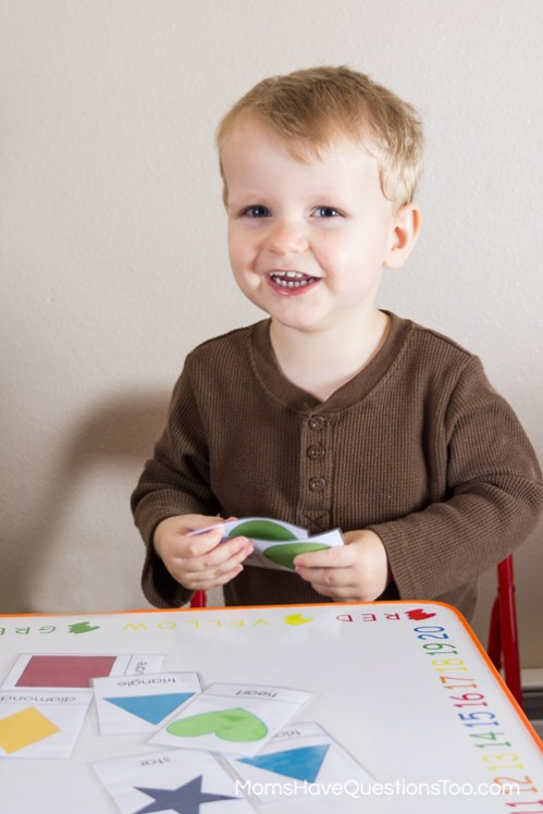 Matching - 5 Shape Activities for Preschoolers Using Shape Cards - Moms Have Questions Too