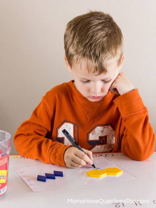 Pattern Blocks Pre-Addition Math Activity - Moms Have Questions Too