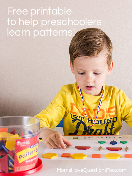 Making Patterns With Pattern Blocks For Preschoolers Moms Have