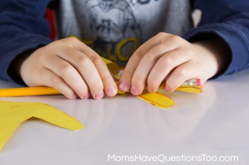 Rolling Petals Lilies Spring Craft Idea - Moms Have Questions Too