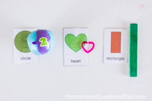 Shape Hunt - 5 Shape Activities for Preschoolers Using Shape Cards - Moms Have Questions Too