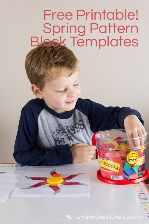 Spring Pattern Block Templates - Moms Have Questions Too