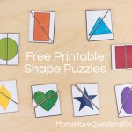 2 Part Shape Puzzles