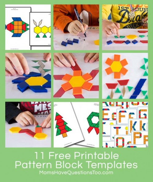 graphic relating to Printable Pattern Block Templates named Spring Scene Practice Block Template and Much more Habit Block