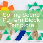Spring Scene Pattern Block Template and More Pattern Block Templates!