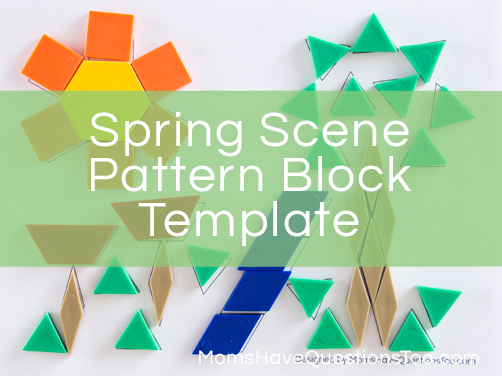 photo relating to Printable Pattern Block Templates referred to as Spring Scene Routine Block Template and Even further Habit Block