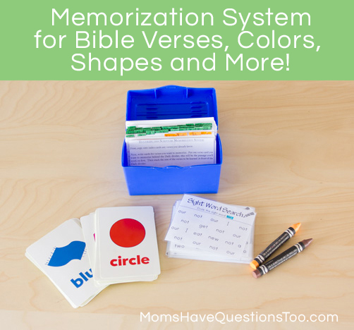 Memorize Bible Verses and More with this Memorization System - Moms Have Questions Too