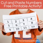 Missing Numbers Cut and Paste Worksheet