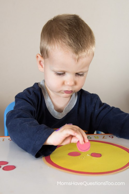 Pasting - Teach Shapes with a Shape Pizza! Moms Have Questions Too