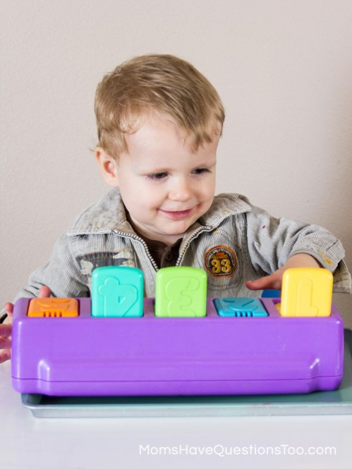 Pop Up Toy - Spring Tot School Trays - Moms Have Questions Too