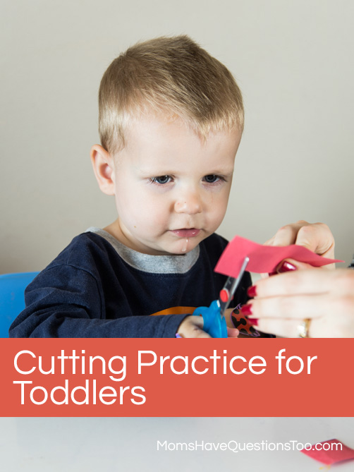 Shapes Cutting Practice for Toddlers - Moms Have Questions Too
