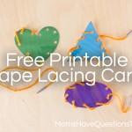Shape Lacing Cards to Teach Shapes
