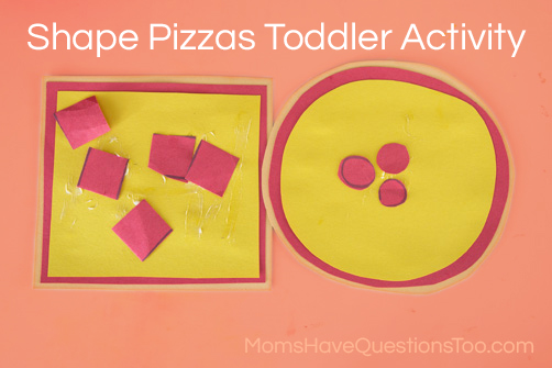 Teach Shapes with a Shape Pizza! Moms Have Questions Too