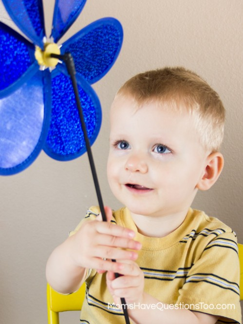 Use a Dollar Store Pinwheel for a Preschool Lesson on Wind - Moms Have Questions Too