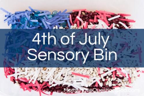 4th of July Sensory Bin - www.momshavequestionstoo.com