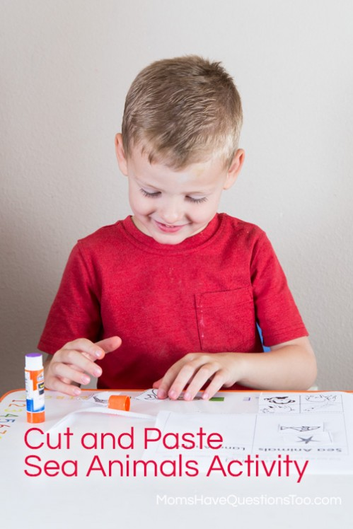 Cut and Paste Sea Animals Activity - www.momshavequestionstoo.com