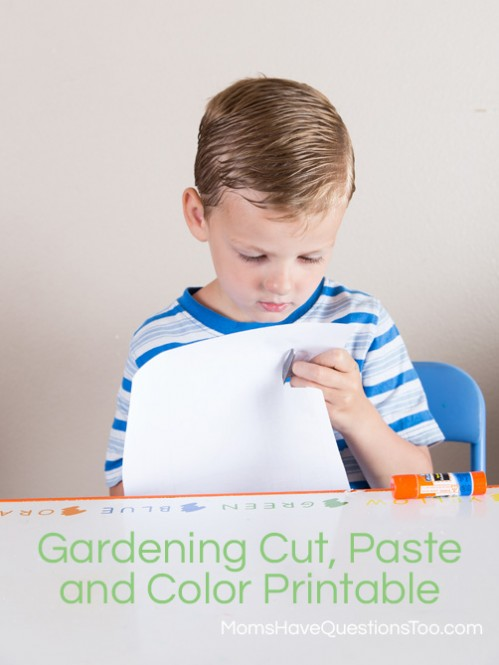 Gardening Cut Paste and Color Activity - momshavequestionstoo.com