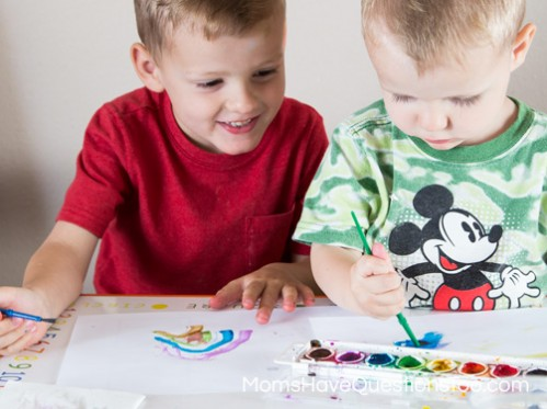 Painting to Music - Toddler Music Activities - www.momshavequestionstoo.com