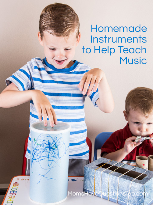 Toddler Music Activity - Homemade Instruments - momshavequestinostoo.com