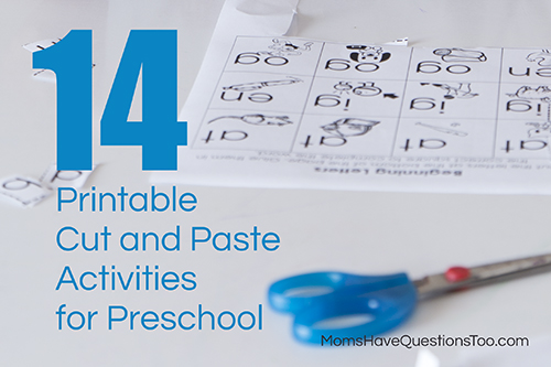 14 Printable Cut and Paste Activities for Preschool - Moms Have Questions Too