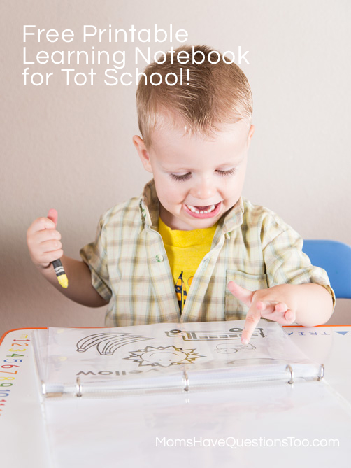 Coloring in Learning Notebook - Moms Have Questions Too