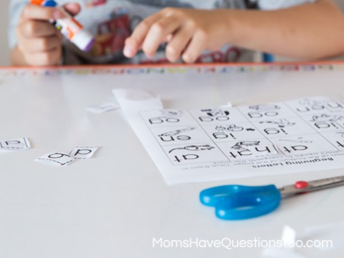 Cut and Paste Letters - Moms Have Questions Too