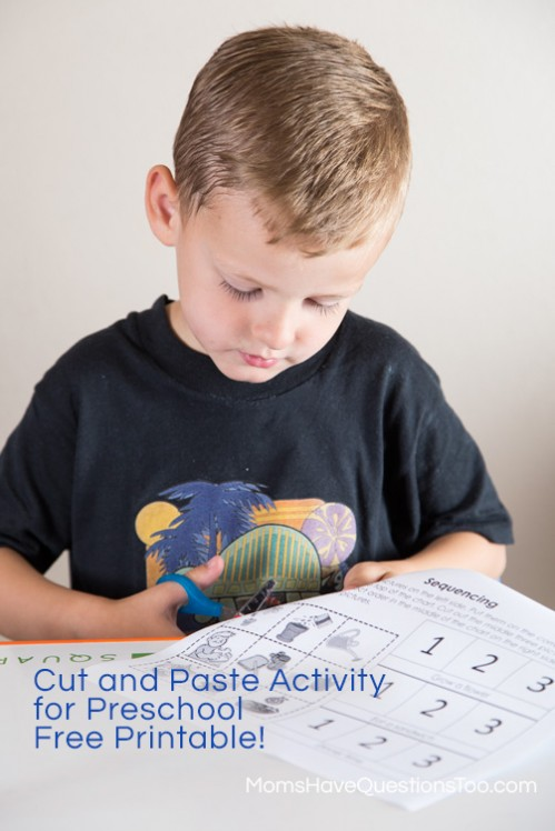 Cut and Paste Sequencing Activity - Moms Have Questions Too
