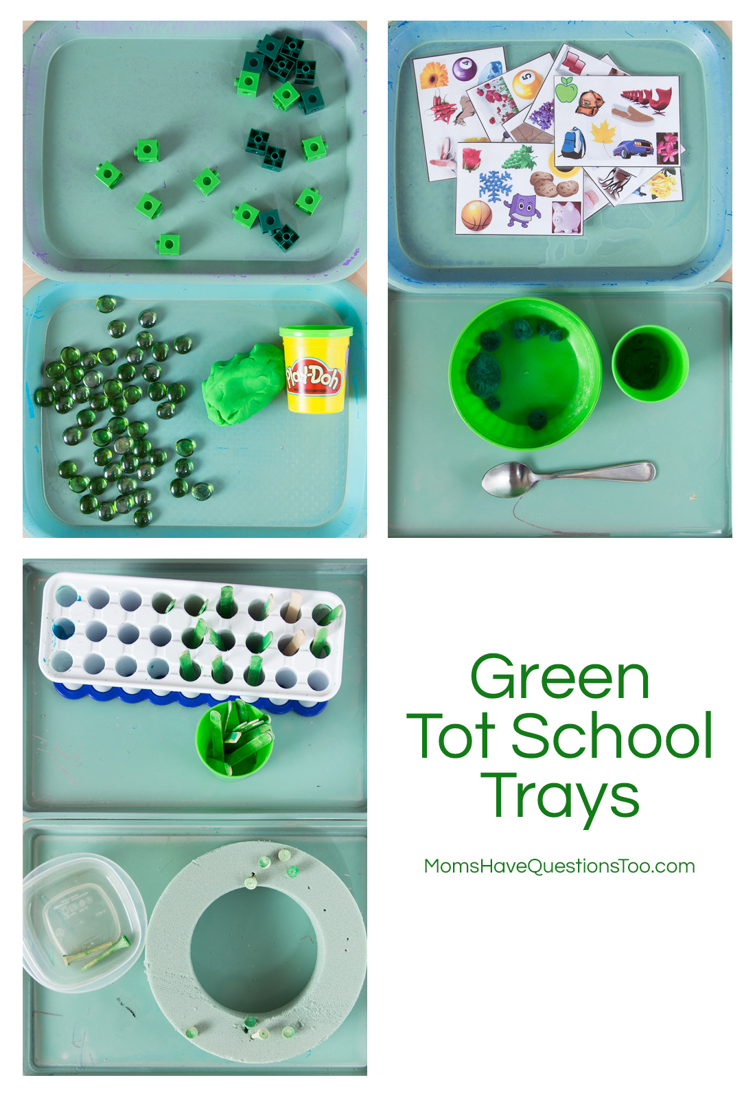 Green Tot School Trays - Moms Have Questions Too