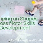 Jump on the Chalk Shape for Gross Motor Skills
