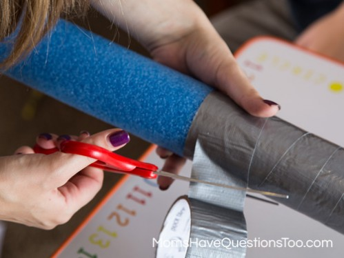 Lightsaber tutorial - Cut Duct tape - Moms Have Questions Too
