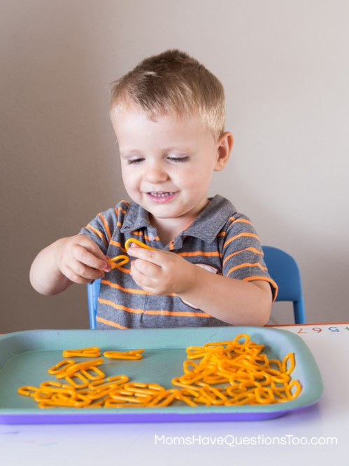 Orange Links for Tot School Trays - Moms Have Questions Too