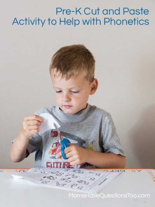 Pre-K Cut and Paste Activity - Moms Have Questions Too