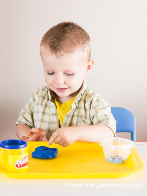 Sensory Activity with Playdough - Moms Have Questions Too