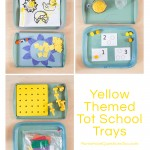 Yellow and Blue Tot Trays