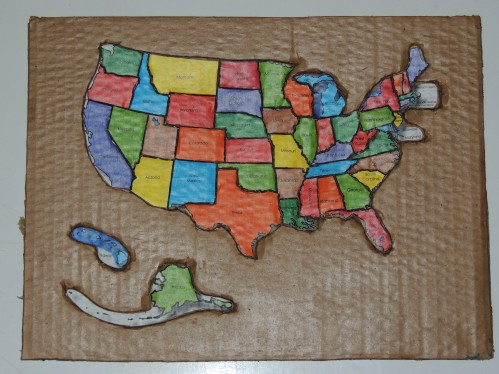 DIY United States Map Puzzle