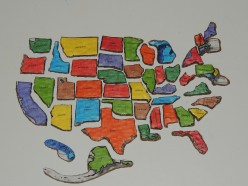 Image result for picture of a states puzzle