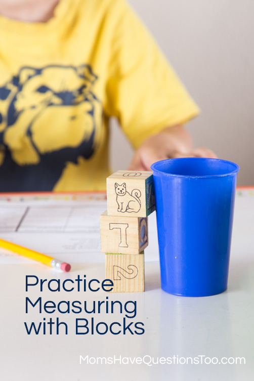 Help your preschooler learn about measuing with blocks - Moms Have Questions Too