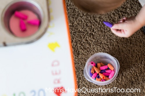 Practice sorting and gross motor skills with this fun activity - Moms Have Questions Too