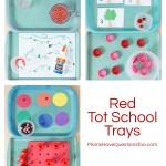 Red Tot School Trays