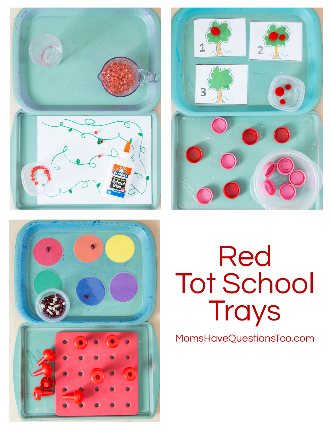Red Tot School Trays - Moms Have Questions Too