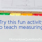 Measure and Record: A Measuring Game for Preschoolers