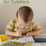 Toddler Busy Bag: Stickers, Paper and Crayons