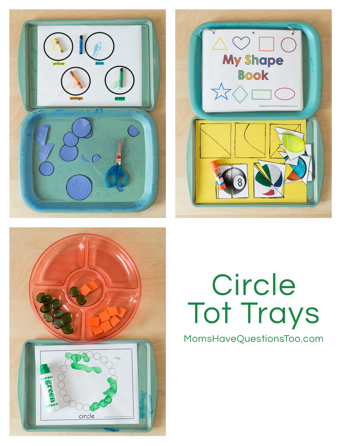 Circle Montessori Tot School Trays
