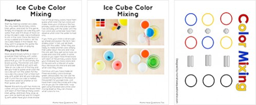 Color Activity Pack Sample Pages - Moms Have Questions Too