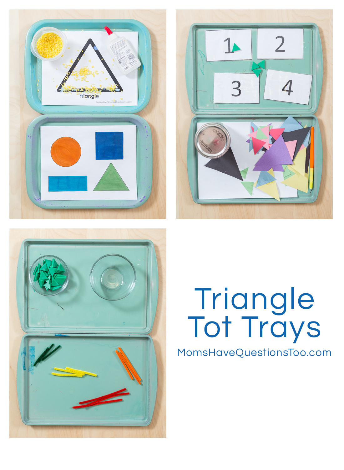 Triangle Tot Trays - Moms Have Questions Too