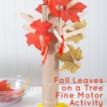 Hanging Leaves on a Tree – a fine motor game